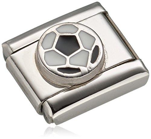 Nomination Damen-Charm Composable Fussball Edelstahl Emaille - 330202/13