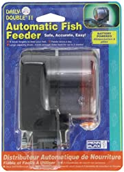 Penn Plax Daily Double II Battery-Operated Automatic Fish Feeder - Best Automatic Fish Feeders