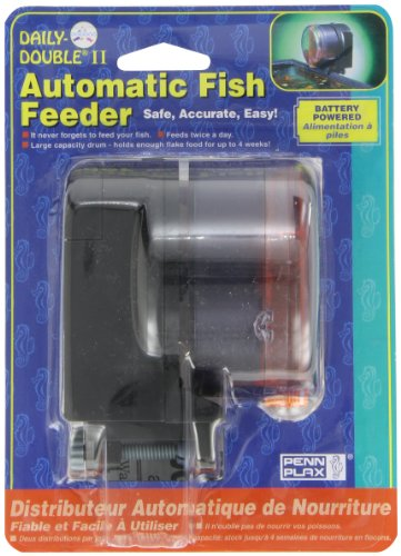 Penn-Plax Daily Double II Battery-Operated Automatic Fish Feeder