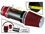Velocity Concepts MATTE BLACK PIPE RED - SHORT RAM INTAKE Compatible For 03-07 Honda Accord LX EX 3.0L V6 VCWSI-HD-V15VDB