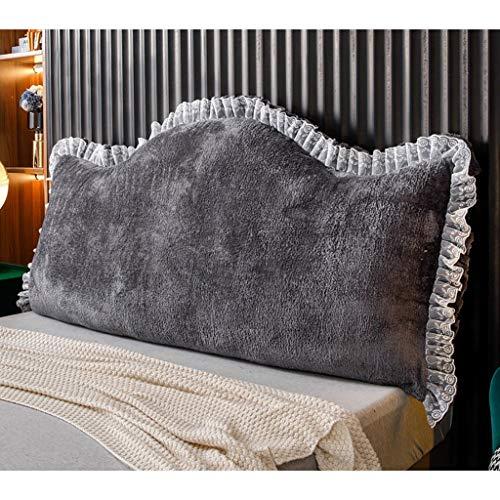 Almohadas lumbares Cojín de decoración de almohada de terciopelo caliente de invierno con correas fijas, lectura de descanso Posicionamiento de la almohada Posicionamiento de la almohada, almohadilla