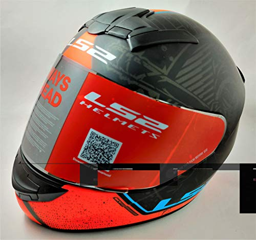 LS2 Helmets - FF352 Rookie - Street - Matt Black Orange - Single Mercury Visor Full Face Helmet - (Large - 580 MM)