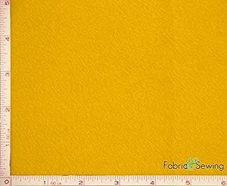 Gold Yellow Anti-Pill Polar Fleece Fabric Polyester 13 Oz 58-60