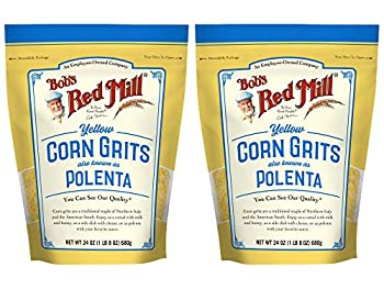 Bob s Red Mill Polenta Grits Golden Corn Grit 24 Ounce  Pack of 2