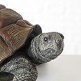 Schildkrötenfigur, Deko-Figur Schildkröte aus Kunstharz, ca. 34 cm x 25 cm x 14 cm - 6