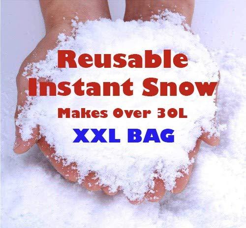 Polvo de nieve instantáneo, reutilizable, para decoración de nieve artificial de Navidad,...