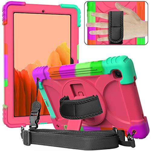 Funda para Samsung Tab A7 para niños con asa, funda SIBEITU Galaxy Tab A7 de 10,4 pulgadas   Funda protectora rígida a prueba de golpes con correa de hombro para Samsung A7 Tablet 2020   Madreselva