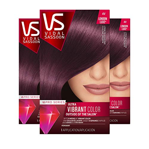 Vidal Sassoon Pro Series, 4VN Midnight Amethyst, 3 Count