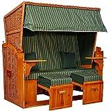 intergrill Strandschönheiten Gina Ostsee XXL Strandkorb 2,5-Sitzer Verschiedene Dekor Terrassen Wintergärten Garten
