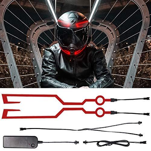 Tira de luz para motocicleta, kit de luces LED para casco de...