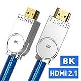 Taurusb 高速HDMIケーブル リアルHDMI 2.1ケーブル ウルトラHD (UHD) 8K HDMI 2.1ケーブル 48GB オーディオ&イーサネットHDMIコード HDR 4:4:4 5m