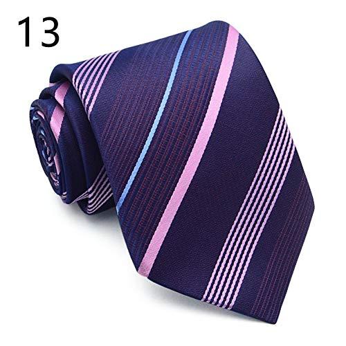 FDHFC 8 cm brede stropdas voor mannen mode pak vrije tijd nekwear stropdas heren commerciële casual donkerblauw gestreept stropdassen