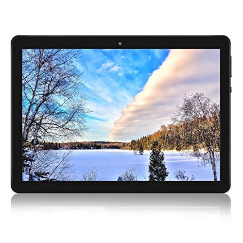 Tablet da 10 pollici, con Processore quad-core ,Android 7.0 WIFI, navigazione, Bluetooth, 4GB di RAM 64 GB di memoria, Dual SIM 3G, è anche un cellulare (nero)