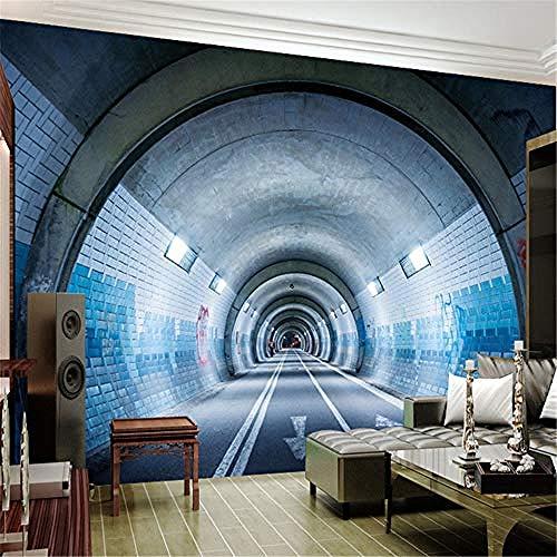 XHXI Murales 3D para la sala de estar Personalizado de cualquier tamaño Arte abstracto moderno Túnel Pared Pintado Papel tapiz 3D Decoración dormitorio Fotomural sala sofá pared mural-250cm×170cm