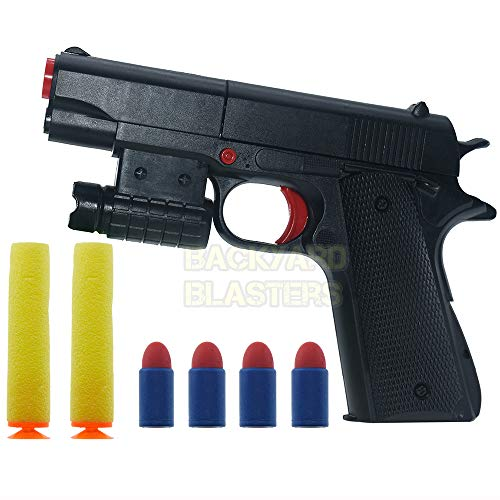 Backyard Blasters Toy Gun Colt M1911A1 Rubber Bullet Pistol Mini PistolsKids Softs Foam Dart Blaster Toy