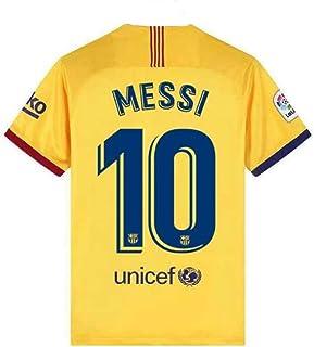 Basalna Barcelona 10 Messi 2019/2020 Season Away Men's Soccer Jersey Color Yellow
