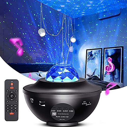 Galaxy Projector for Bedroom by Myriad365 – 3 in 1 Starry Night Light...