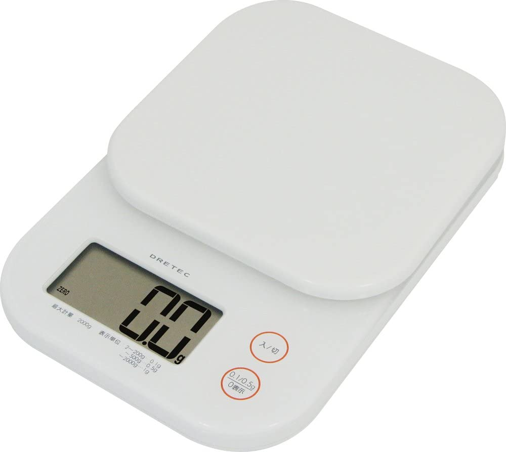 DRETEC digital scale ' Jerry ' [ you can wash the pan / display