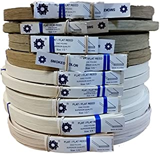 1 Pound Coil of Flat Reed for Basket & Seat Weaving, Natural or Smoked Color, Any Width, 1/4