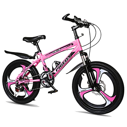 Axdwfd Kids Bike 18/20 Inches Children's Outdoor Bicycles, Mountain Bikes, Shock-absorbing Bicycles, Suitable For Boys And Girls Aged 7-14 Bicycle(Size:18in,Color:C)