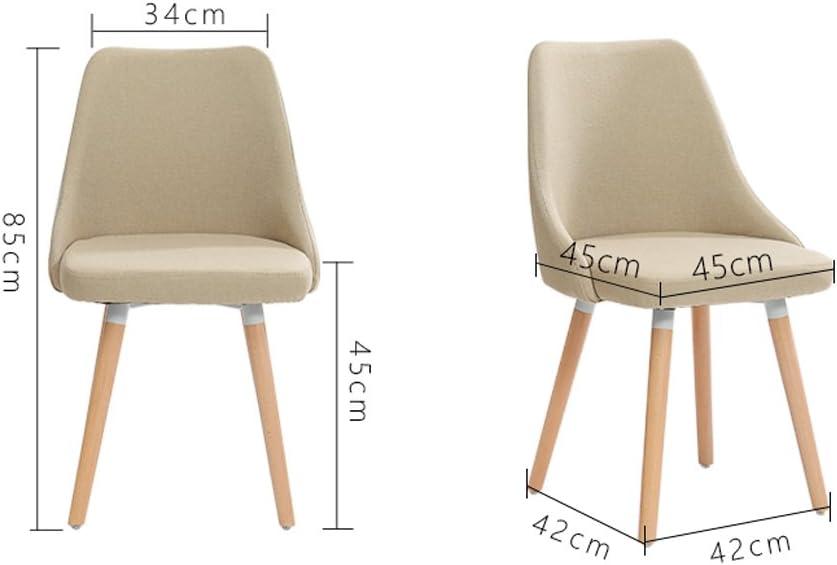 Président WGZ- Chaise en Bois Massif Dossier Dossier dinant la Chaise Simple (Color : B) D