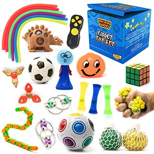 24 Pcs Fidget Pack, Fidget Toy Set for Boys, Sensory Toys for Autistic Children, Stress Toys, Fidget...