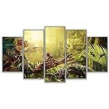 WMWSH Modern Wandbilder Snail Gecko Reptilschlange 5