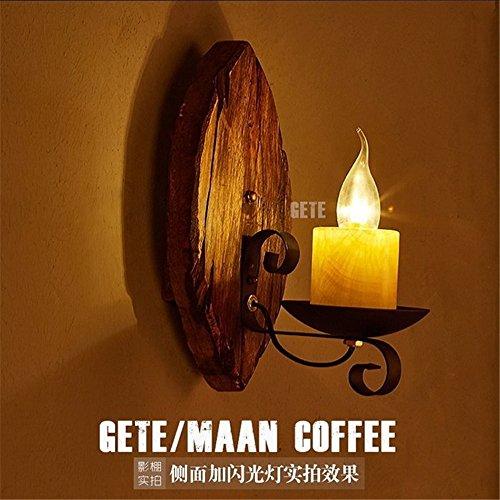 JJZHG wandlamp binnen wandlamp retro creatieve persoonlijkheid koffie restaurant bar kandelaar nostalgische wandlamp, 30 * 15cm omvat: wandlampen, wandlamp met leeslamp, wandlamp met stekker