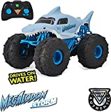 Monster Jam, Official Megalodon Storm All-Terrain Remote Control Monster Truck Toy Vehicle, 1:15 Scale