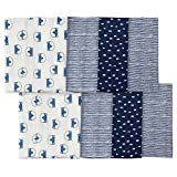 Gerber Baby Boys' 8-Pack Flannel Burp Cloth, fox, One Size