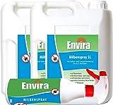 Envira Milben-Spray - Anti-Milben-Mittel Mit Langzeitwirkung - Geruchlos & Auf Wasserbasis - 2x5Ltr+500ml -