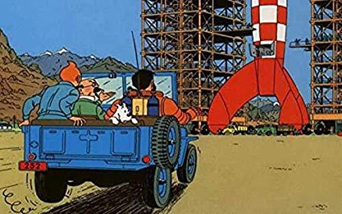 VGSD® Aventuras De Tintín Puzzle 1000 Piezas, Anime Rompecabezas De Madera, Descompresión Adulta Alta Dificultad Rompecabezas Personalizados 50X75Cm