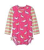 Hatley Baby-Mädchen Rash Guard Swimsuits Badeanzug, Pink (Prancing Unicorns 650), 9-12 Monate