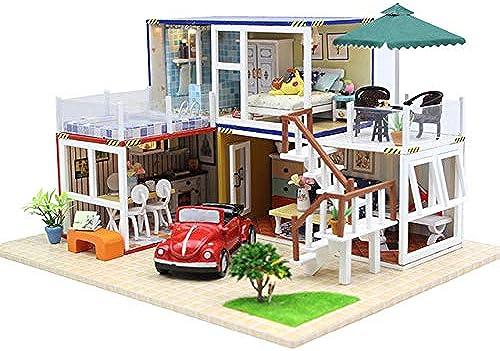 fürOnly M l DIY Puppenhaus Holz Miniatur Puppenh er M l Kit Puzzle Handgefertigtes Puppenhaus Craft Spielzeug für Kinder mädchen Geschenk Wie abgebildet