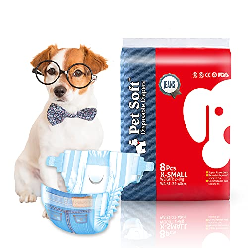 Pet Soft Doggie Diapers Female - Disposable Dog...