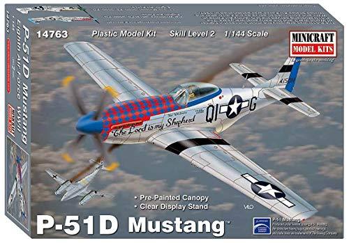 ミニクラフト 1/144 アメリカ軍 P-51D/F-51D マスタング プラモデル MC14763