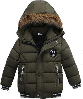 Odziezet Niños Niña Abrigo Gruesa Abrigo Esquí de Nieve Plumífero Acolchado Unisex Bebé 1-5 años
