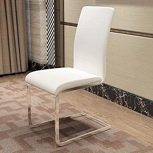 Silla de comedor de ocio, moderna y minimalista en forma de arco Silla de comedor Nordic Hotel comedor Silla cómoda (Color: Naranja)
