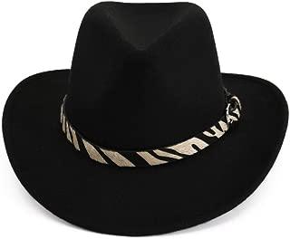 HaiNing Zheng Men Women Handmade Wool Felt Panama Hats Cowboy Western Caps Wide Brim Sombrero Fedora Trilby Casual Jazz Formal Hat
