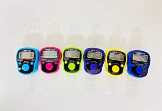 6 Pcs Digital Tally Tasbeeh Finger Counter With LED Light Multicolor