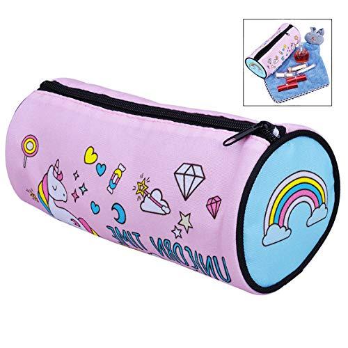 iwobi Leuke Cartoon Potlood Case Grote Capaciteit Pen Bag Make-Up Cosmetics Bag Creatieve Cilinder Waszak voor School Reizen