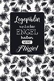 Logopädin weil echte Engel haben keine Flügel: Notizbuch | 100 Seiten mit dezentem Punktraster | Ideal als Dankeschön | Coverdesign: Tropic Black