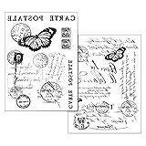 STAMPERIA Transfer-Papier'Carte Postale' 2 Stück Post Stempel Schrift