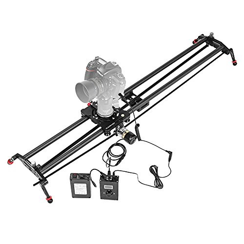 """ASHANKS 23""""/60CM Carbon Fiber Slider with Adjustable Angle Follow Focus Pan Angle Tube Electric Motorized Control Delay Sliders Slider Dolly Track Rail for Timelapse Photography"""