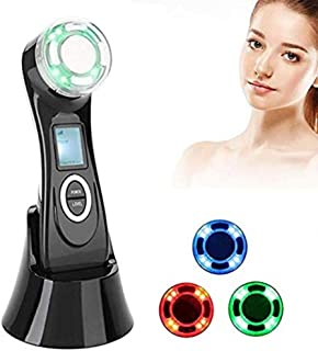 MJWM 美しくなる 1つのしわの減少装置高周波RF LED EMSの美のマッサージャーの顔のマッサージャー5つ/持ち上がること/反老化/皮のきつく締まること/表面清潔になること/反アクネ 肌を改善する