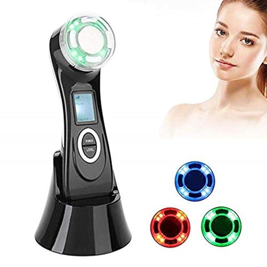 リーダーシップドライ過激派MJWM 美しくなる 1つのしわの減少装置高周波RF LED EMSの美のマッサージャーの顔のマッサージャー5つ/持ち上がること/反老化/皮のきつく締まること/表面清潔になること/反アクネ 肌を改善する