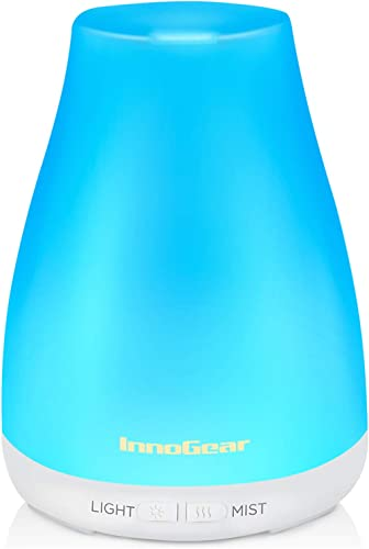 InnoGear Essential Oil Diffuser, Upgraded Diffusers for Essential Oils Aromatherapy Diffuser Cool Mist Humidifier wit...