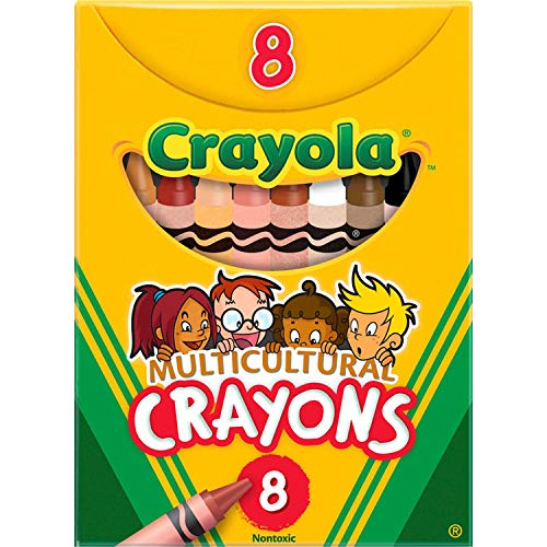 Crayola Multi-Cultural Crayons, Regular, Assorted Skin Tone Colors, 12 Pack