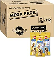Make sure your canines teeth and gums are clean and healthy with Pedigree Dentastix, the daily dental treat which helps build strong teeth and gums Designed for your large four-legged friend, packed with dog-friendly ingredients and a great taste tha...