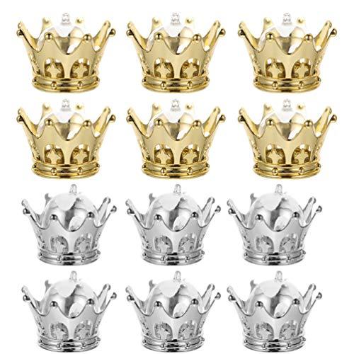 YARNOW 24 Piezas de Corona Rellenable con Cúpula de Plástico Hueco Cajas de Dulces Cajas de Regalo Cajas de Recuerdo para Baby Shower Favores Premios Princesa Decoración